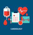 cardiology blood concept vector image