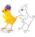 Chicken with flower cap