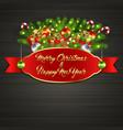 christmas tree gift boxes ball candy garland vector image vector image