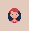 cute cartoon boy portrait - isolated flat drawing vector image vector image