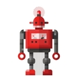 Cute vintage robot character vector image vector image