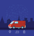 delivery van logistic service isolated icon vector image vector image