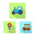 design of farm and agriculture symbol set vector image