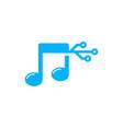 digital music logo icon design vector image vector image