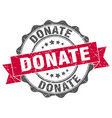 donate stamp sign seal vector image vector image