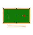 flat cartoon snooker table billiard ball set vector image