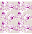 flower wallpaper pattern vector image vector image