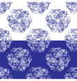 flowers blue seamless 2 380 vector image vector image