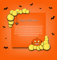 frame halloween with tennis balls vector image vector image