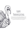happy thanksgiving day sketches poster text vector image vector image