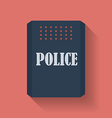 Icon of Police assault shield Flat style vector image vector image