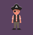 kid wearing a pirate costume vector image