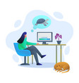 lazy internet connection gradient vector image vector image
