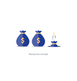 Licking money financial crisis budget management vector image