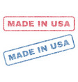 made in usa textile stamps vector image