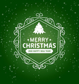 Merry christmas and happy new year type font vector image vector image
