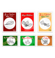 merry xmas post stamps set of hand drawn sketch vector image vector image