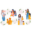 mothers day template set vector image
