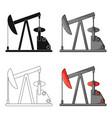 oil pumpoil single icon in cartoon style vector image vector image