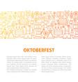 oktoberfest line design template vector image