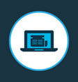 online news icon colored symbol premium quality vector image