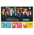 people parade horizontal banners vector image vector image