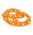 pretzel icon isometric style vector image vector image