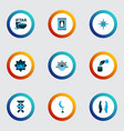 ramadan icons colored set with maghrib cereal vector image