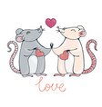 rats in love vector image