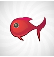 Red small fish isolated vector image vector image