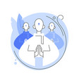 religious sect abstract concept vector image vector image