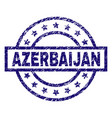 scratched textured azerbaijan stamp seal vector image