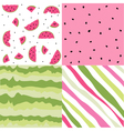 Seamless pattern watermelon set vector image