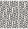 seamless pattern with abstract bamboo vector image