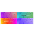 set colorful repeating gradient geometric vector image vector image