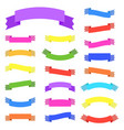 set of 21 flat color isolated ribbon banner vector image