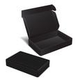 set of black realistic cardboard box vector image vector image