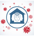 silhouettes people in house virus vector image