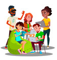 sitting students with laptops and smartphones in vector image