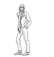 Stylish Man in suit with scarf vector image