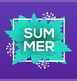 summer - modern colorful vector image vector image