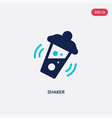 two color shaker icon from alcohol concept vector image vector image