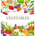 vegetable and healthy food menu poster fresh vector image vector image