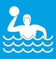 Water polo icon white
