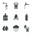 Water related Icons Set Design vector image vector image
