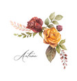 watercolor autumn wreath with rose