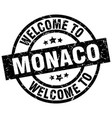 welcome to monaco black stamp vector image vector image