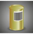 Yellow Metal Tin Can vector image