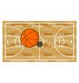 Basketball field and ball Game of basketball vector image