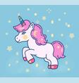 cute little unicorn horse flat vector image